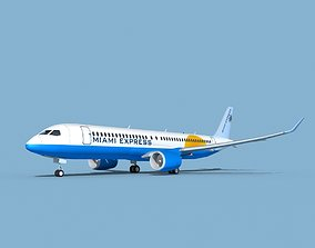 Airbus A220-300 Miami Express Charter 3D model