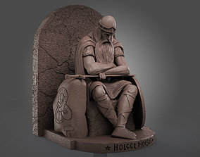 Danish warrior sitting 3D print model