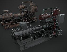 Machinery device motor turbine 3D model PBR