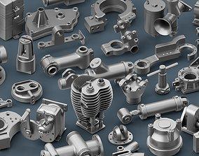 Hard Surface Mechanical Kitbash Volume 2 3D base