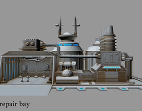 3D model Imperial AT-ST repair bay