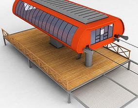 bench Ski lift station 3D