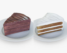 3D model Cake Slice Set