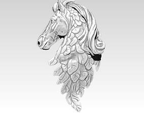3D print model Mustang Horse Wings Pendant