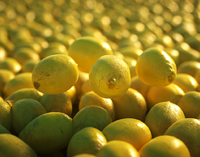 HQ Lemon photogrammetry - Game ready asset - free low-poly