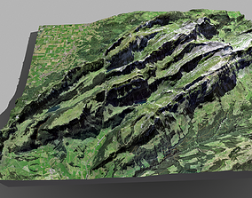 3D Mountain landscape The Appenzell Alps