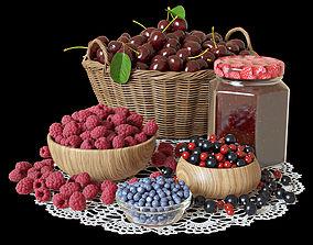 3D Berries set