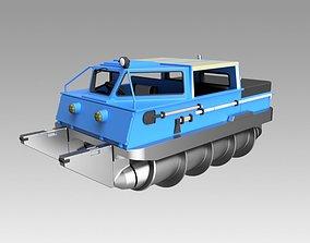3D Screw terrain vehicle ZIL-2906