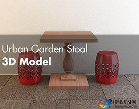 3D asset Urban Garden Stool