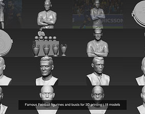 Famous Football figurines and busts for 3D printing