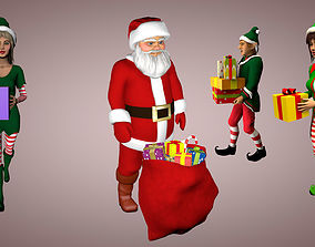 3D model animated Christmas pack