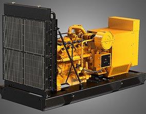 3D 3412 G Engine - V12 Generator Engine