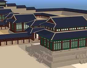 3D asset Voxel Korean traditional castle Pack