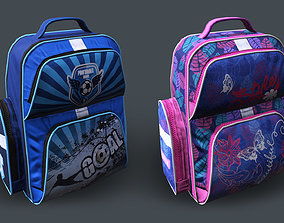 3D asset animated Backpack