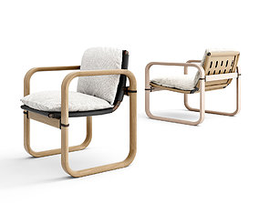 3D Giorgetti Loop outdoor armchair and lounge chair