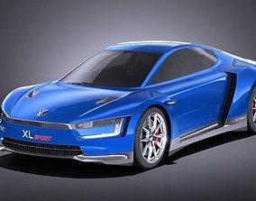 3D Volkswagen XL Sport 2015 VRAY