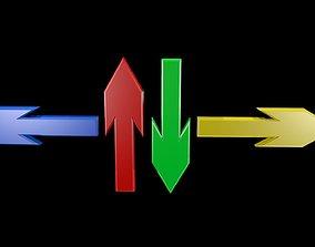 Low poly arrows 3D asset