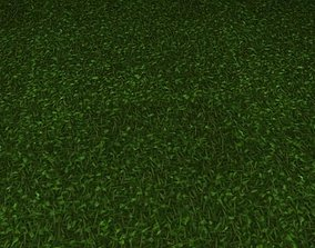 3D model ground grass tile 38