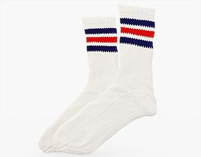 3D asset Striped Socks