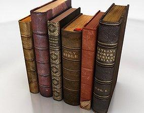 old books set 3D model