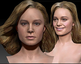 Brie Larson 3d model as Captain Marvel Carol Danvers bust