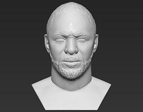 Idris Elba bust 3D printing ready stl obj formats