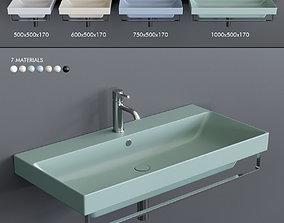 3D asset Ceramica Catalano New Zero Colori Wall-mounted