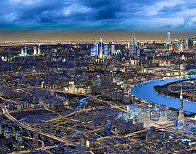 Night view of Shanghai riverside 1 3D model