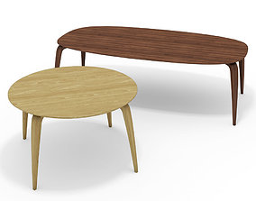3D model GUBI dining tables ROUND and ELLIPSE