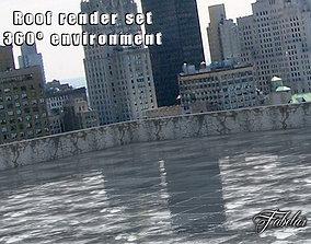 3D asset Roof Render set