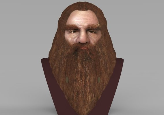 Gimli bust for full color 3D printing