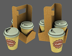 coffee cup 3D model low-poly general-decor