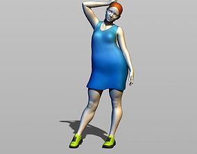 plump sweet lady 3D print model