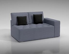 3D model Grey Couch