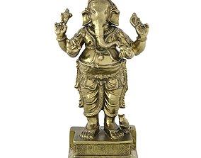 3D model game-ready Ganesha Metal Statue
