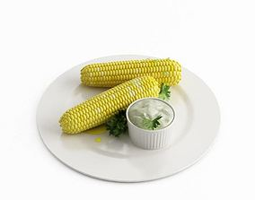 Food With Corn And Butter 3D