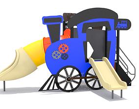Locomotive Train Playground 3D model