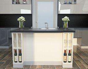 Bianco Gray Kitchen 3D model