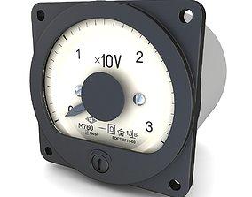 3D model Vintage USSR AC Voltmeter