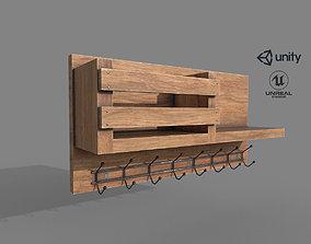Wooden Wall Hanger 3D asset