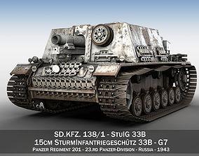 StuIG 33B - Self-propelled heavy Infantry Gun - G7 3D