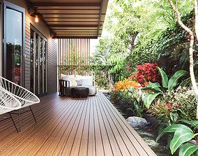Exterior garden design 3D animated
