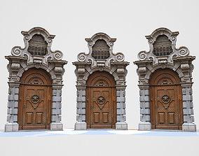 Wooden Door 3D asset realtime
