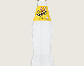 Schweppes Tonic Drink Glass Bottle 3D model