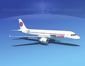 3D model Airbus A320 LP Aero Lloyd