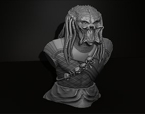 Predator Bust Figurine 3D Printing Assembly