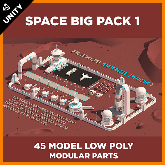 LOW POLY SPACE BIG PACK 1