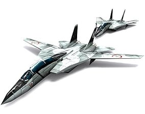 3D asset low-poly F-14 B Tomcat