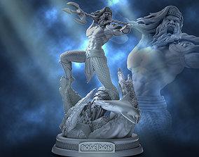 miniature Poseidon 3D printable model
