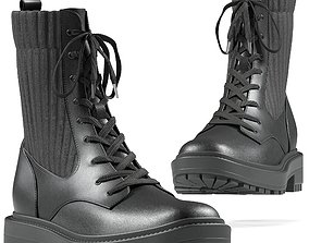 SamEdelman Lydell Boot - Black 3D model